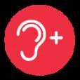 Volumen de auricular fuerte (hasta +20dB)